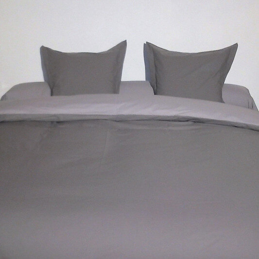 photo de Housse de couette king size bicolore